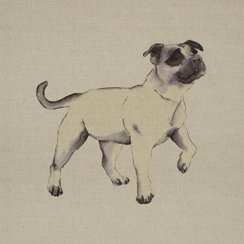 Fabric Cushion Panel - Tala - Staffordshire Bull Terrier Fabric Cushion Panel