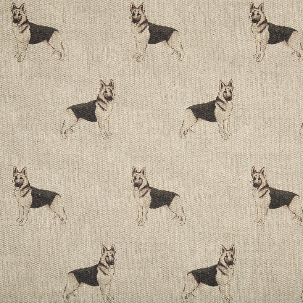 Fabric - Jet German Shepherd - Man's Best Friend Fabric