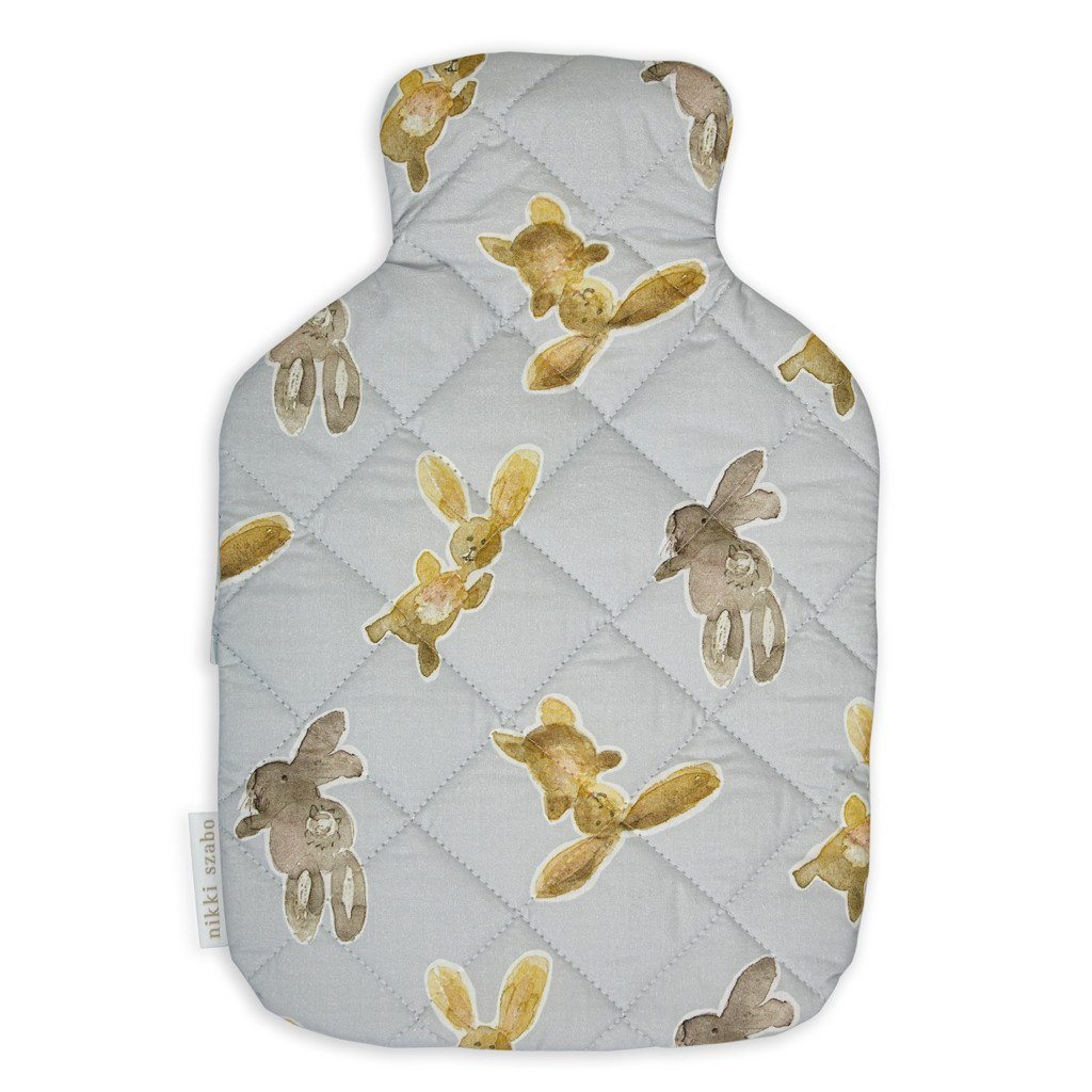 Hot Water Bottle Cover - Dancing Bunnies - Hot Water Bottle Cover