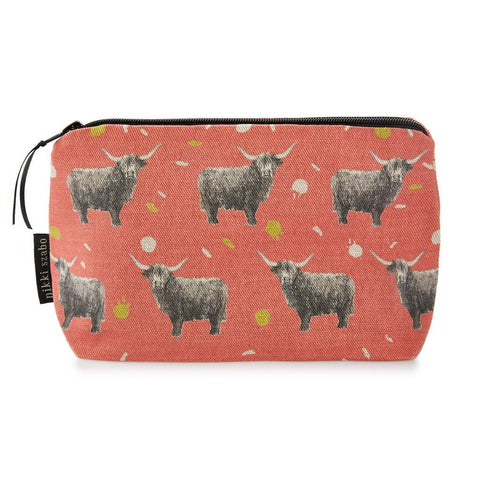 Makeup Bag - Billy Boy - Highland Bull Makeup Bag