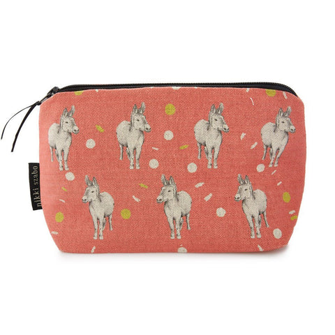 Makeup Bag - Jack & Jill - Donkeys Makeup Bag