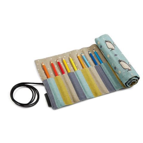 Pencil Roll - Will & Spud - Penguin Pencil Roll