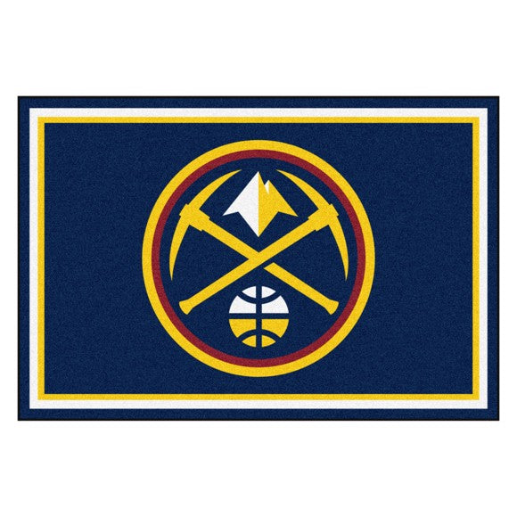 Rug 8x10 Denver Nuggets NBA - Man Cave Boutique