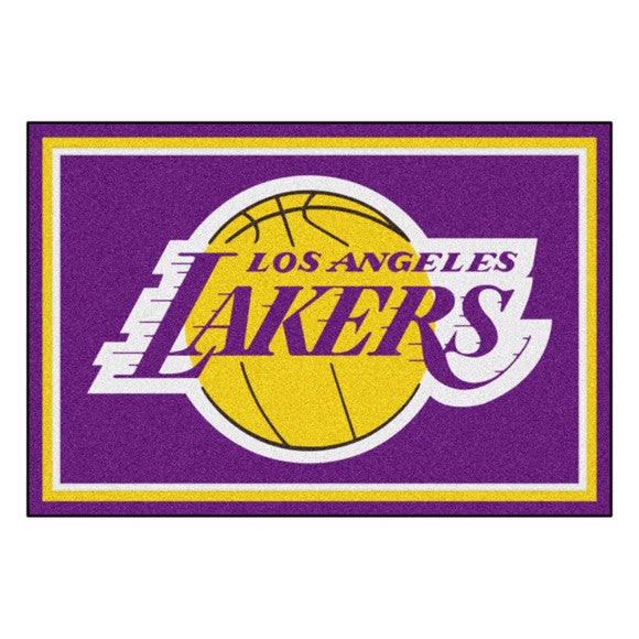 Rug 8x10 Los Angeles Lakers NBA - Man Cave Boutique