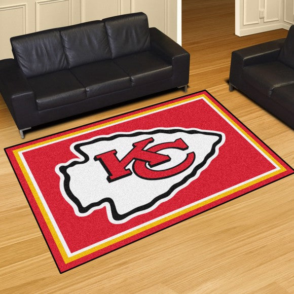 Rug 8x10 Kansas City Chiefs NFL - Man Cave Boutique