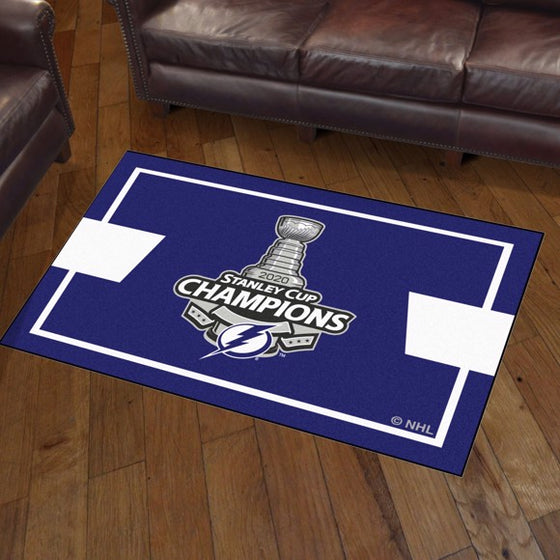 Rug 3x5 Tampa Bay Lightning NHL Stanley Cup Champions 2020 - Man Cave Boutique
