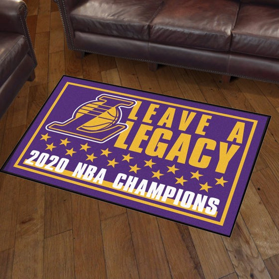 Rug 3x5 Lakers NBA Champions 2020 - Man Cave Boutique