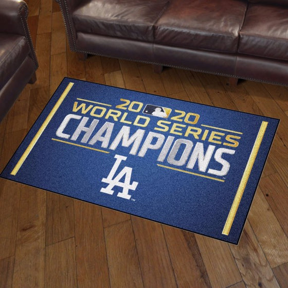 Rug 3x5 LA Dodgers MLB World Series Champions 2020 - Man Cave Boutique