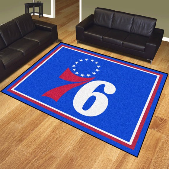 Rug 8x10 Philadelphia 76ers NBA - Man Cave Boutique