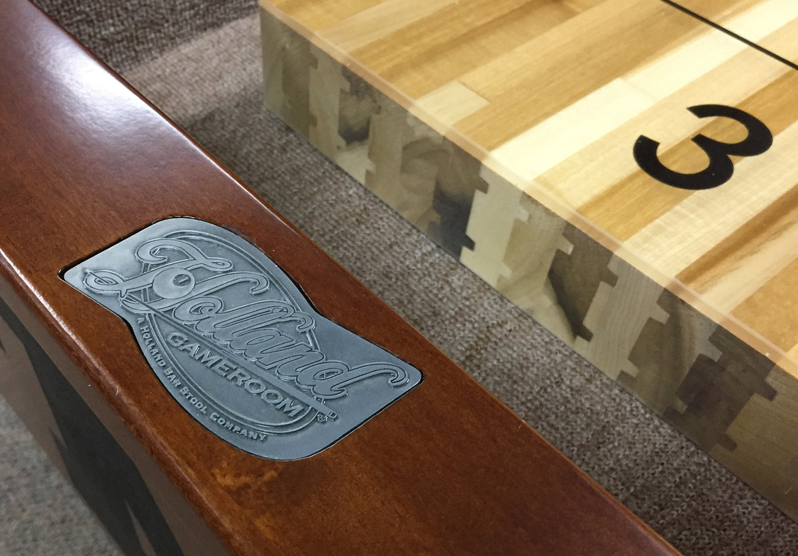 Ohio State University 12' Shuffleboard Table - Man Cave Boutique