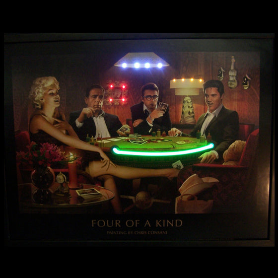 Four of a Kind Neon/LED Picture - Man Cave Boutique