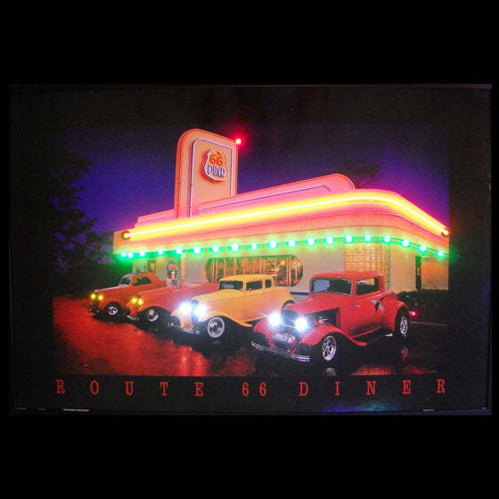 Route 66 Diner Neon/LED Picture - Man Cave Boutique