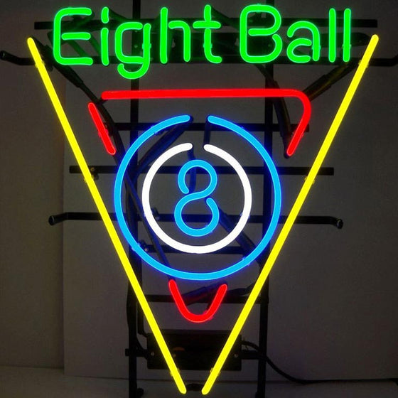 19 x 22  8 Ball Neon Sign - Man Cave Boutique