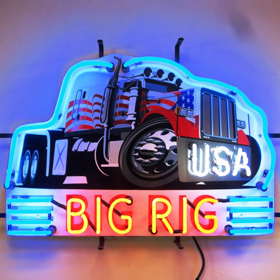 BIG RIG TRUCK NEON SIGN - Man Cave Boutique