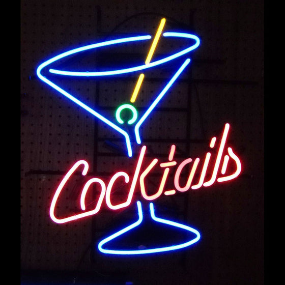 26 x 23 Cocktails and Martini Neon Sign - Man Cave Boutique