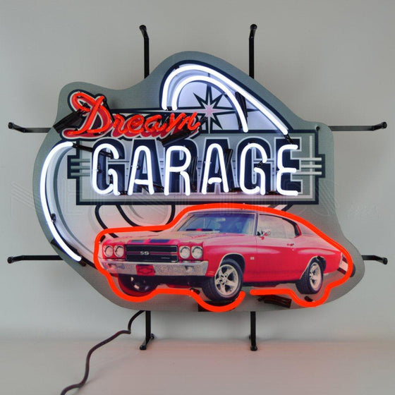 DREAM GARAGE CHEVELLE SS NEON SIGN - Man Cave Boutique