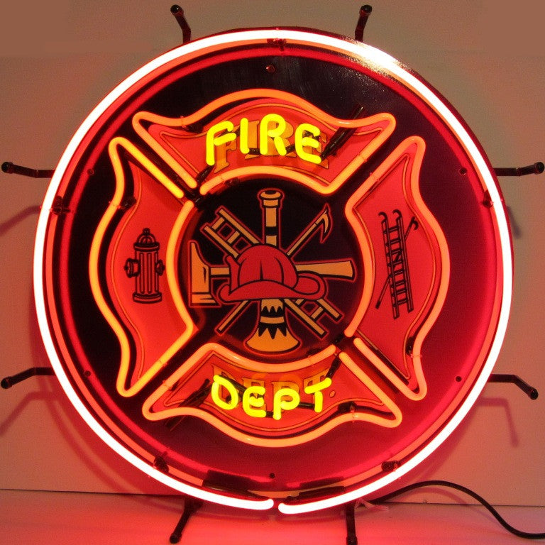 FIRE DEPARTMENT NEON SIGN - Man Cave Boutique