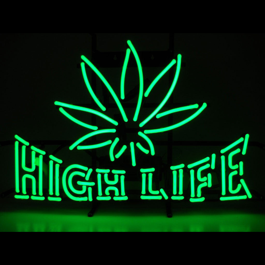 18 x 26 High Life Neon Sign - Man Cave Boutique