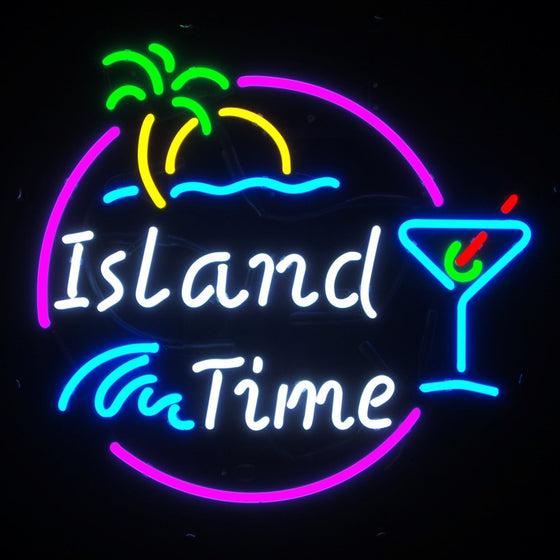 22 x 22 Island Time Neon Sign - Man Cave Boutique