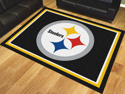 Rug 8x10 Pittsburgh Steelers NFL - Man Cave Boutique