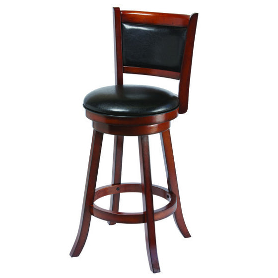 Wood Barstool with Back - Man Cave Boutique
