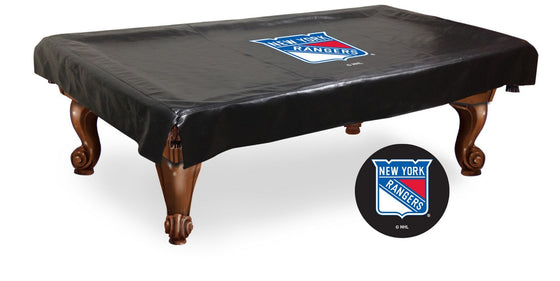 New York Rangers ® NHL Logo Billiard Table Cover - Man Cave Boutique