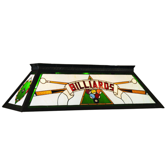 Billiards Lighting_Knockdown Stained Glass 4-Light Fixture_Green - Man Cave Boutique