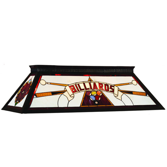 Billiards Lighting_Knockdown Stained Glass 4-Light Fixture_Red - Man Cave Boutique