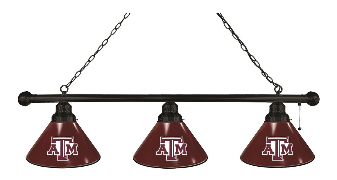 Texas A&M Logo 3 Shade Billiard Light Fixture - Man Cave Boutique