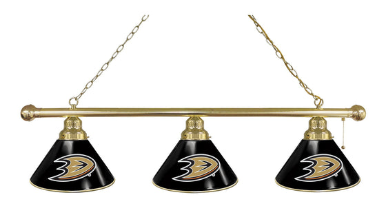 Anaheim Ducks 3 Shade Billiard Light - Man Cave Boutique