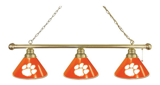 Clemson 3 Shade Billiard Light - Man Cave Boutique