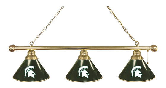 Michigan State 3 Shade Billiards Light Fixture - Man Cave Boutique