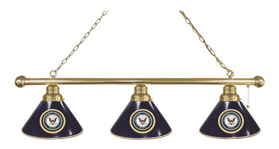U.S. Navy 3 Shade Billiard Light Fixture - Man Cave Boutique