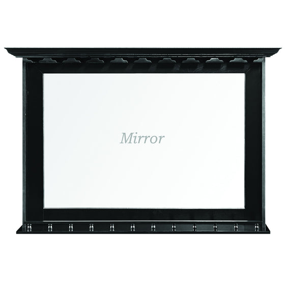 Bar Mirror - Black 52 x 10 x 36 in - Man Cave Boutique