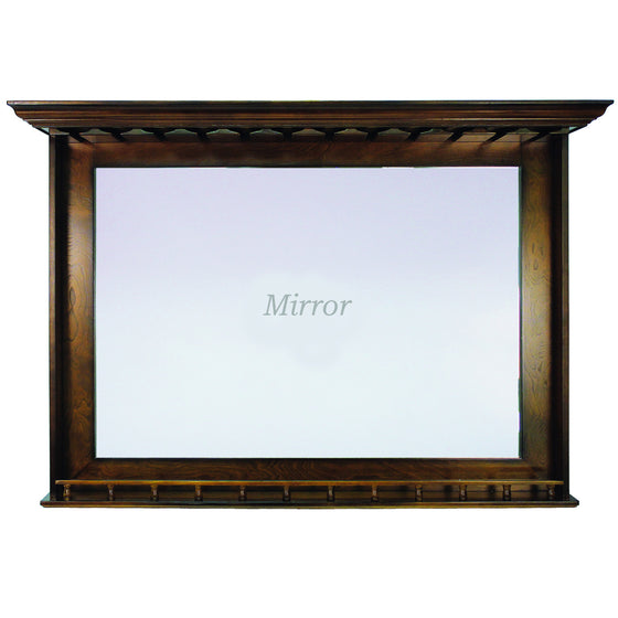 Bar Mirror - Chestnut Finish 52 x 10 x 36 in - Man Cave Boutique