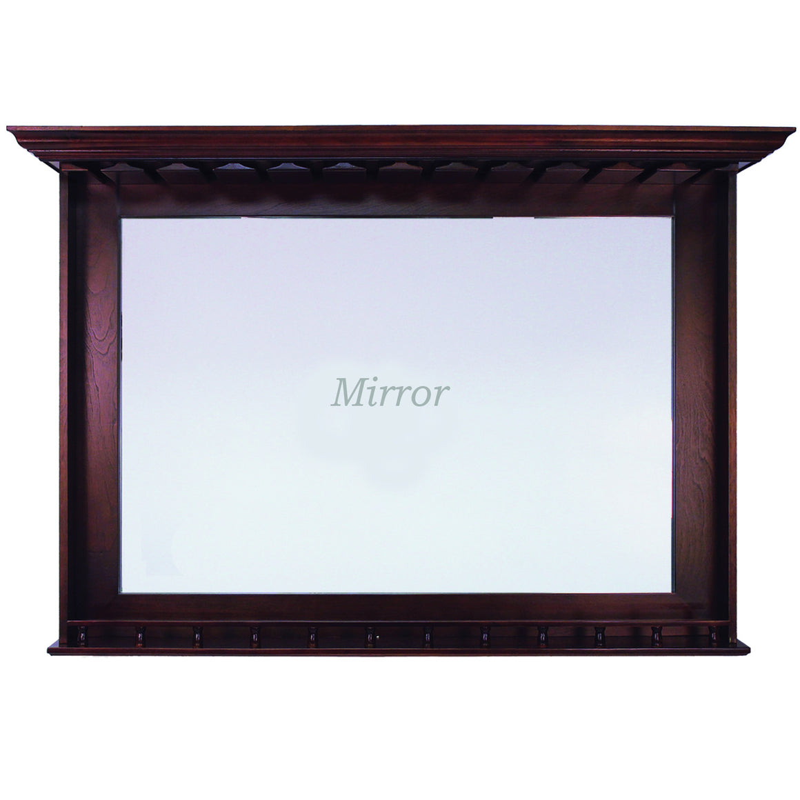 Bar Mirror - English Tudor Finish 52 x 10 x 36 in - Man Cave Boutique