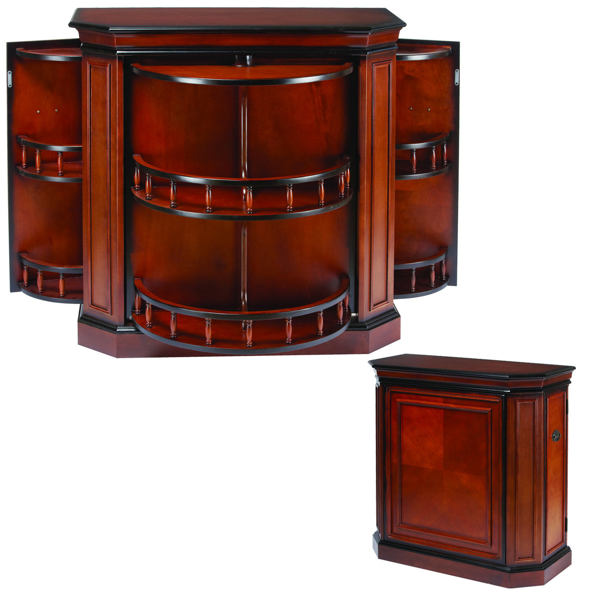 Bar Cabinet with Spindle - Man Cave Boutique