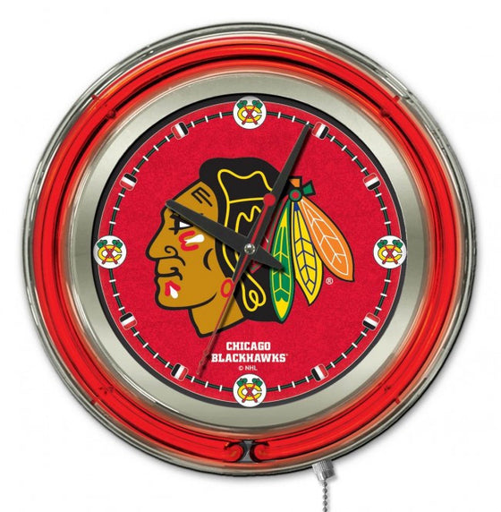 "15"" Chicago Blackhawks ® Clock - Man Cave Boutique"