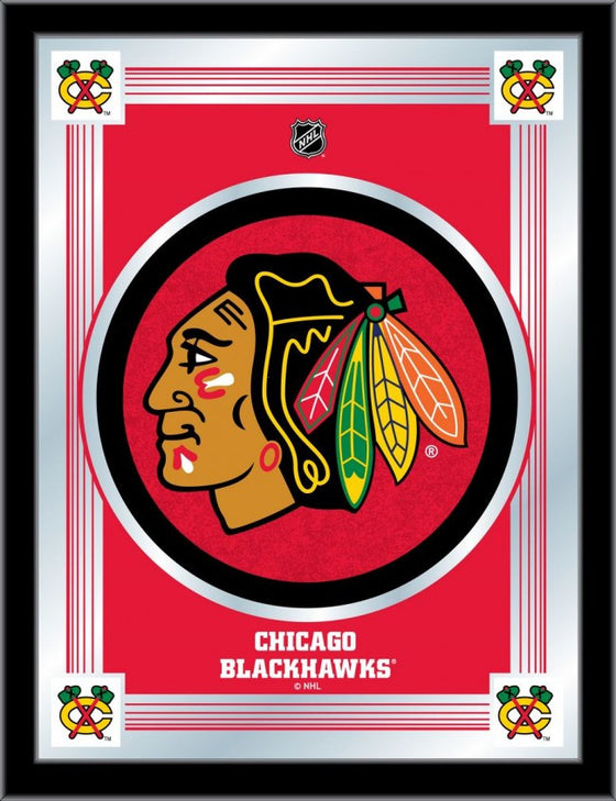 Chicago Blackhawks NHL ® Red Logo Mirror - Man Cave Boutique