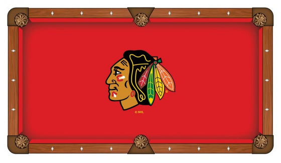Chicago Blackhawks ® NHL Pool Table Cloth - Man Cave Boutique