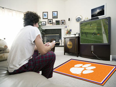 Rug 4x6 Clemson University - Man Cave Boutique