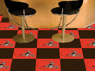 Cleveland Browns NFL Logo Carpet Tiles - Man Cave Boutique