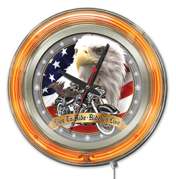 "15"" Live To Ride Clock - Man Cave Boutique"