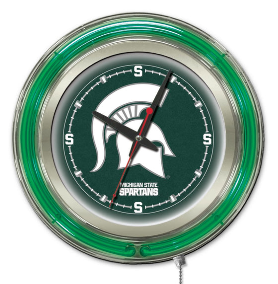 "15"" Michigan State University Logo Wall Clock - Man Cave Boutique"