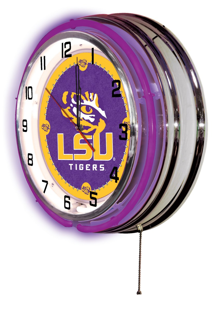"19"" LSU Logo Clock - Man Cave Boutique"