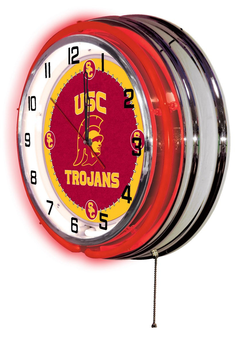"19"" USC Logo Clock - Man Cave Boutique"