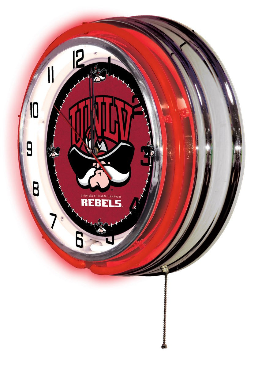 "19"" UNLV Logo Neon Clock - Man Cave Boutique"