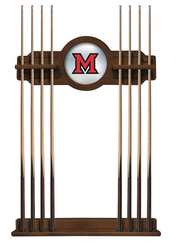 Miami (OH) Redhawks 8' Pool Table with Bonus Cue Rack - Man Cave Boutique