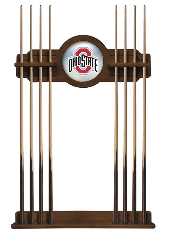 Ohio State 8' Logo Pool Table with Bonus Cue Rack - Man Cave Boutique