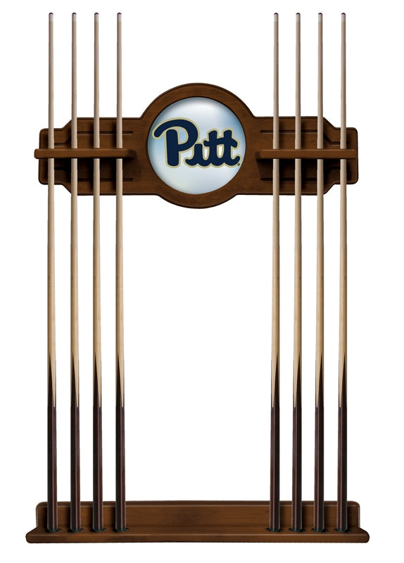 University of Pittsburgh Logo 8' Pool Table with Bonus Cue Rack - Man Cave Boutique